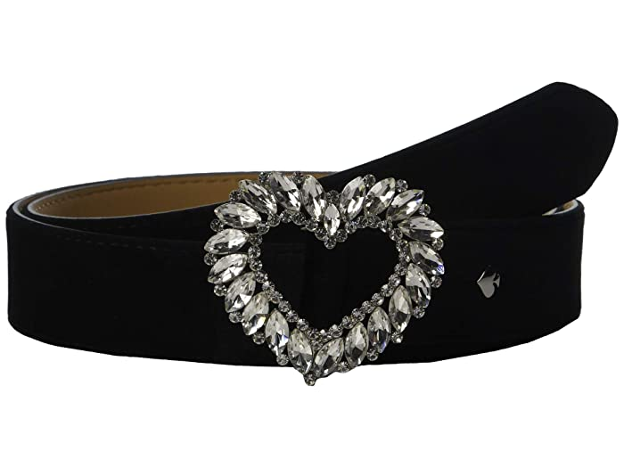 Kate Spade New York 32 mm. 1 1/4 Stone Heart Belt (Black) Women