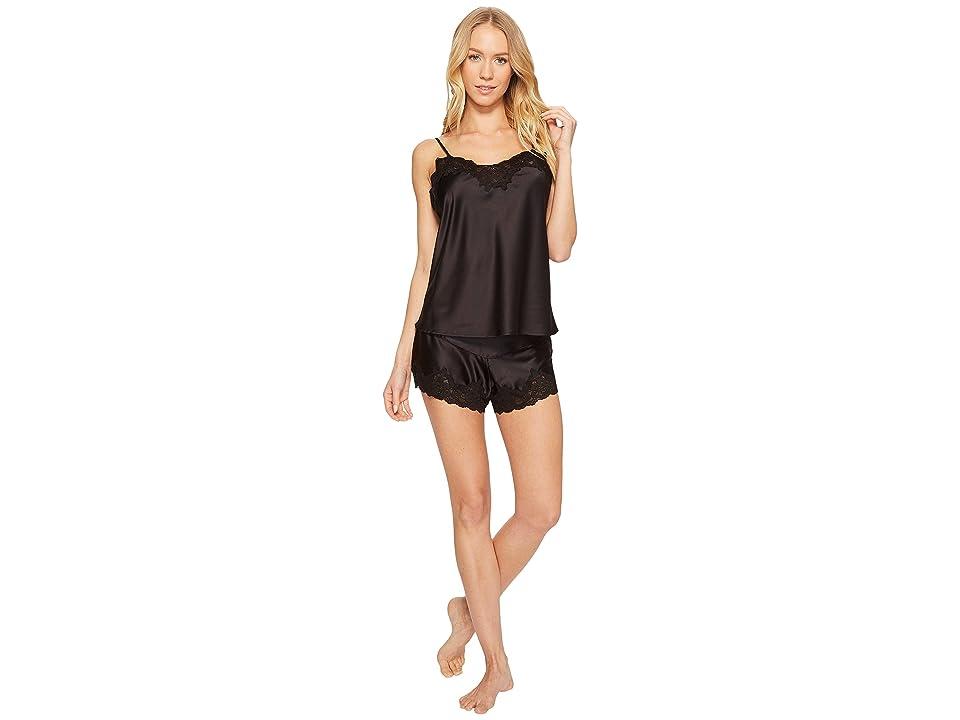 LAUREN Ralph Lauren Satin Cami Top Pajama Set (Black) Women