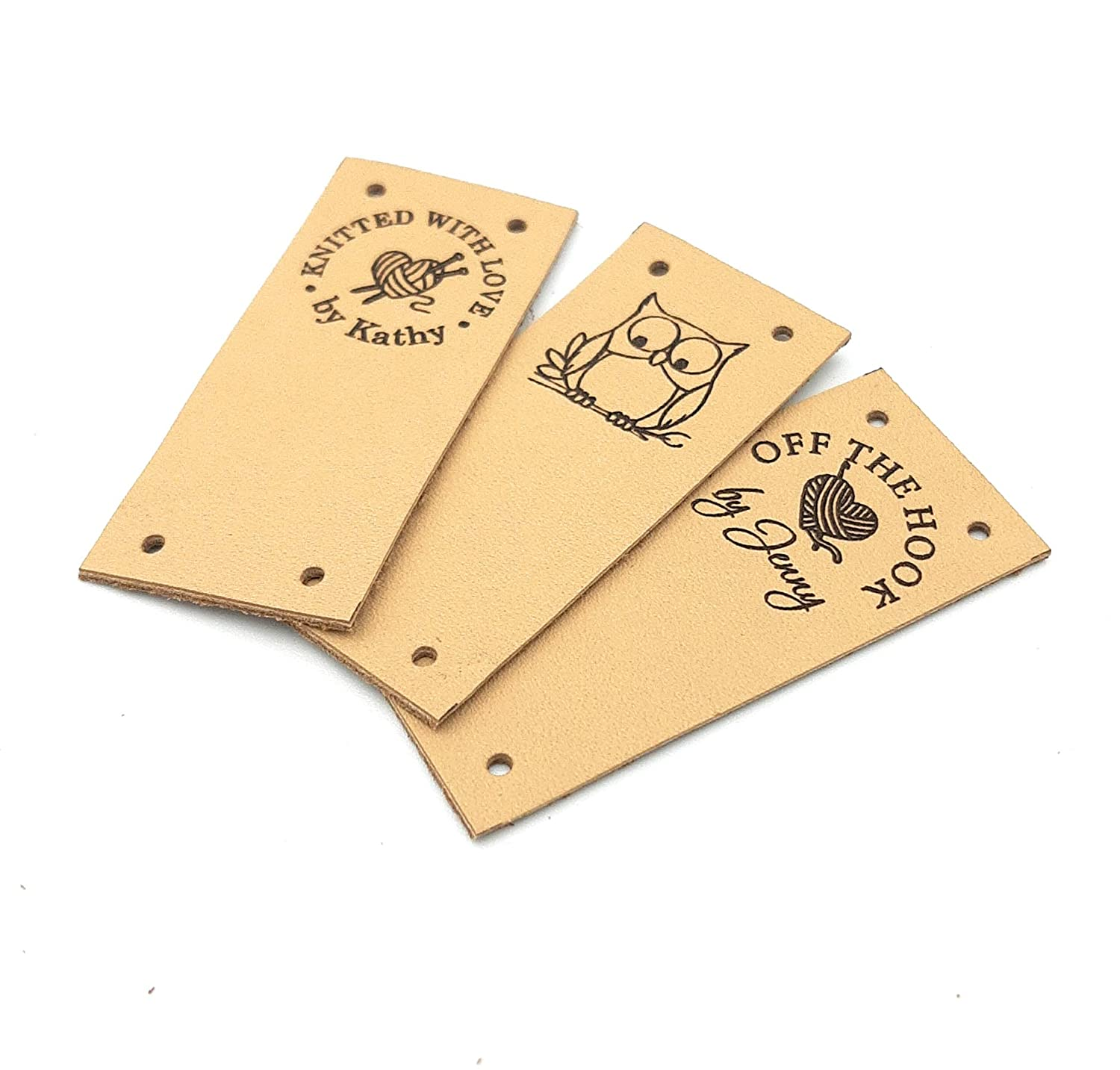 Leather tags custom Branded goods clothing Directly managed store personaliz leather labels