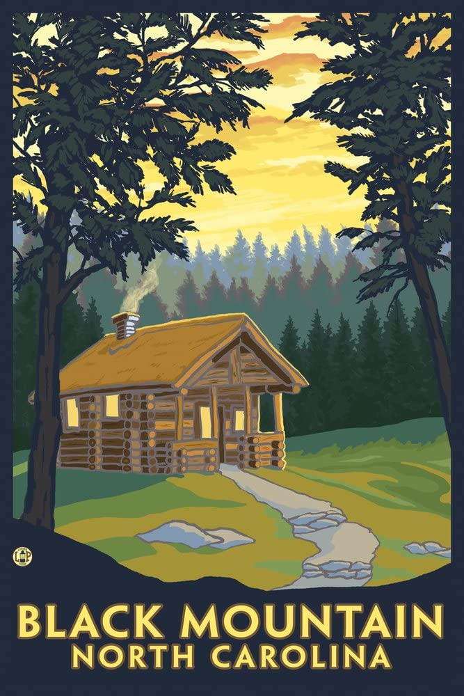 Black Mail order Mountain North Carolina - Giclee Scene Cabin Rare 36x54 Galle