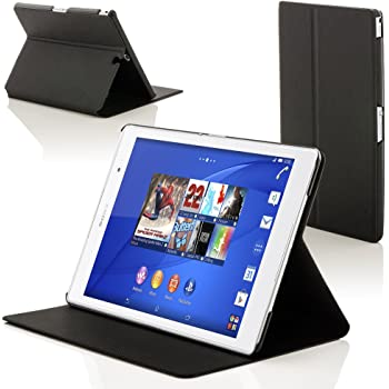Forefront Cases Hülle für Sony Xperia Z3 8.0 8-Zoll Tablet Compact Schutzülle Case Cover & Ständer - Dünn Leicht, Rundum-Geräteschutz & Auto Schlaf Wach Funktion - Schwarz