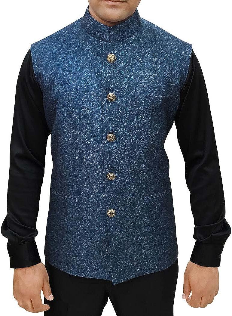INMONARCH Mens Dark Navy Printed Jacket Modi Jacket for Men NV85