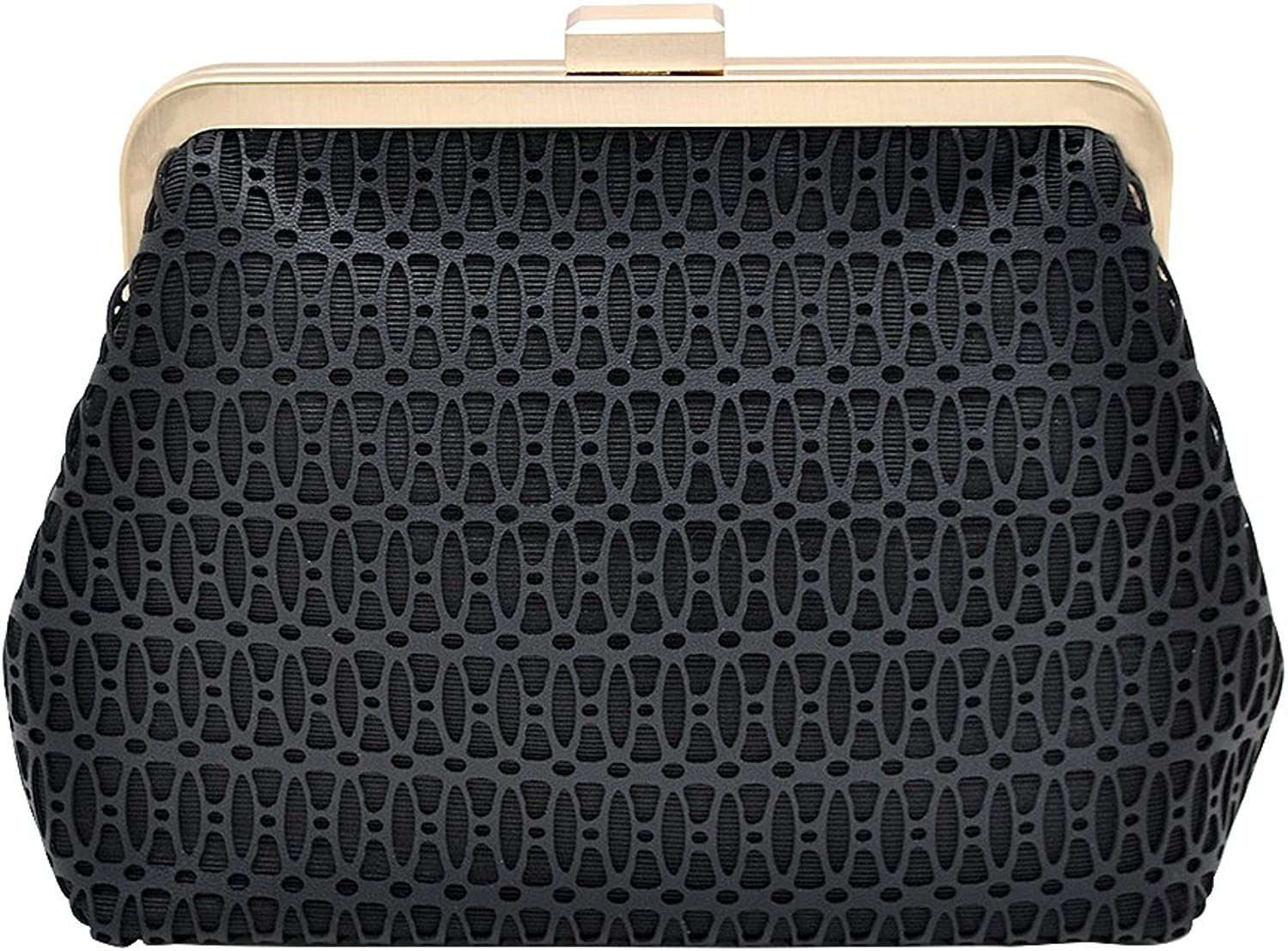 Laser Cut Faux Leather Pouch Clutch