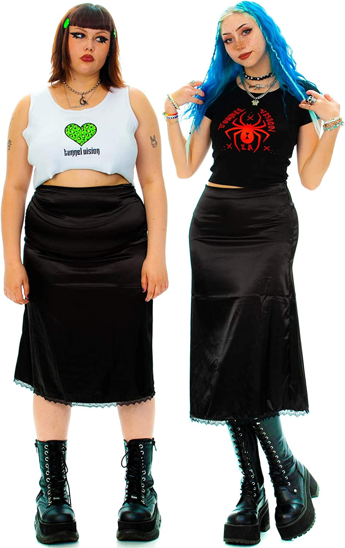 Jemeigar High Waist Bohemian Printed Midi Skirt for Women Y2k 90s Vintage Goth A Line Maxi Flowy Long Skirts Streetwear