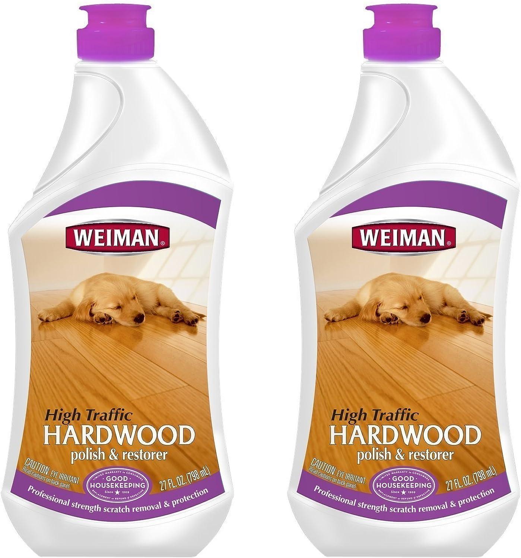 Weiman Wood Floor Polish - 27 Ounce - 2 Pack - Hardwood Laminate Pine Oak Birch Bamboo and More