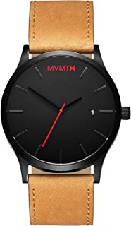 MVMT Classic Watches | 45 MM Men's Analog Minimalist Watch | Leather Wristband