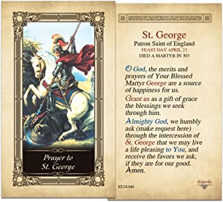 St. George Laminated Holy Card - Pack of 3