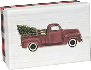 C.R. Gibson 15-Count Keepsake Boxed Christmas Cards, Red Truck (JXB56-17488)
