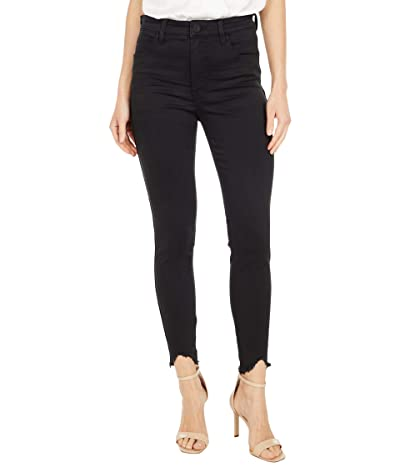 KUT from the Kloth Connie High-Rise Fab Ab with Curve Raw Hem in Black (Black) Women