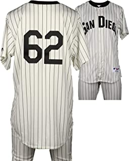 d84b4fbb7 Jose Dominguez San Diego Padres Game-Used  62 White Pinstripe Uniform vs  Boston Red