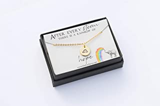 Rainbow Baby Ready to Ship Necklace – DII ABC - New Birth Quote Gift Box - Mom Jewelry Silver Rose Gold - 1/2 Inch 12MM Disc - Fast 1 Day Processing