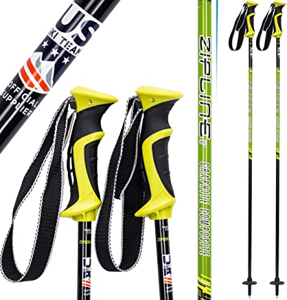 99a899ad259 Zipline Ski Poles Carbon Composite Graphite Lollipop U.S. Ski Team Official  Ski Pole - Choose Color