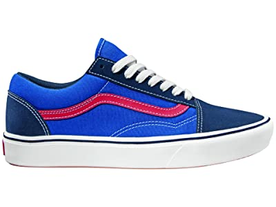 Vans Comfycush Old Skool ((Tri-Tone) Dress Blues/Blue/Red) Athletic Shoes