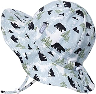 JAN & JUL Boys 50+UPF Breathable Cotton Sun-Hat with Adjustable Chin-Strap for Baby, Toddler