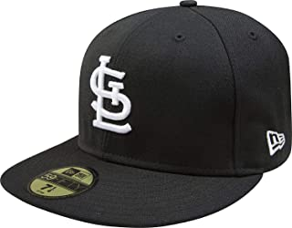 New Era 59Fifty Hat St Louis Cardinals Basic Black Fitted Headwear Cap 11591099