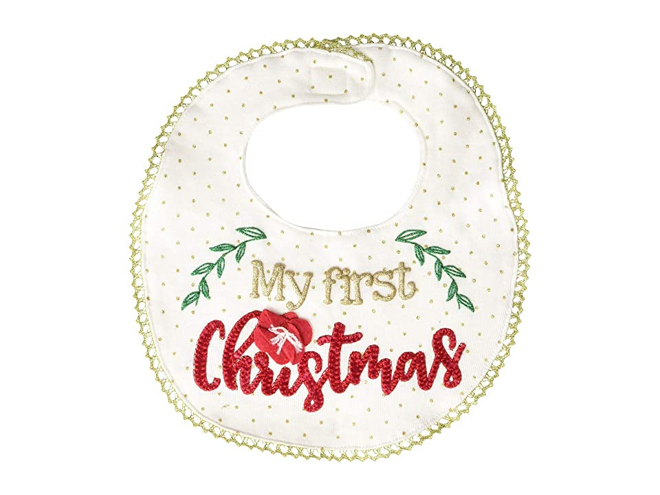 Mud Pie Very Merry Christmas Bib (Infant) (White) Accessories Travel