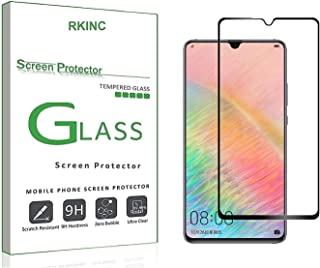 RKINC forHuawei Mate 20XScreen Protector, [1 Pack] Full Coverage Tempered Glass Clear Screen Protector [9H Hardness][3D Round Edge][0.33mm Thickness] for Huawei Mate 20X, Black