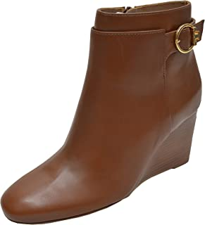 Women's Calf Leather Sofia 85Mm Wedge Bootie Boots Festival Brown