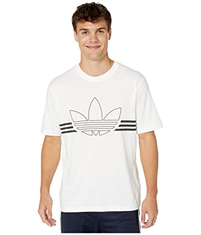 adidas Originals Outline Trefoil Tee (White) Men