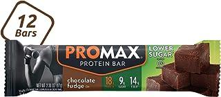 Promax Lower Sugar Chocolate Fudge, 18g High Protein, 9g Sugar, No Artificial Ingredients, 12 Count