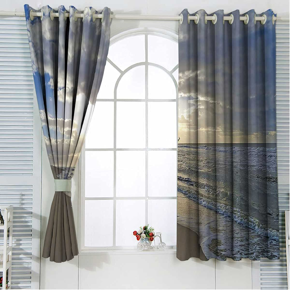Nautical Decor Ranking TOP18 Black Curtains for Bedroom 72 Length Be Bombing new work Blue Inch