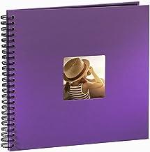 Hama Fine Art - Álbum de fotos, 50 páginas negras (25 hojas), álbum con espiral, 36 x 32 cm, con compartimento para insertar foto, lila