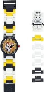 LEGO Star Wars 8020424 Stormtrooper Minifigure Link Watch   Black/White   Plastic   25mm Case Diameter   Analog Quartz   Boy Girl   Official