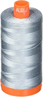Aurifil A1050-2610 Mako Cotton Thread Solid 50WT 1422Yds Light Blue Grey