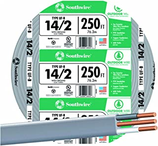 SOUTHWIRE COMPANY LL 13054255 14-2 Underground Feeder Cable, 250'