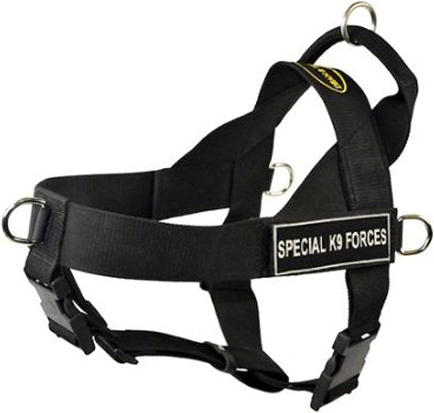 DT Universal No Pull Dog Harness, Special K9 Forces, Black, XSmall  Fits Girth Size  53cm to 63.5cm