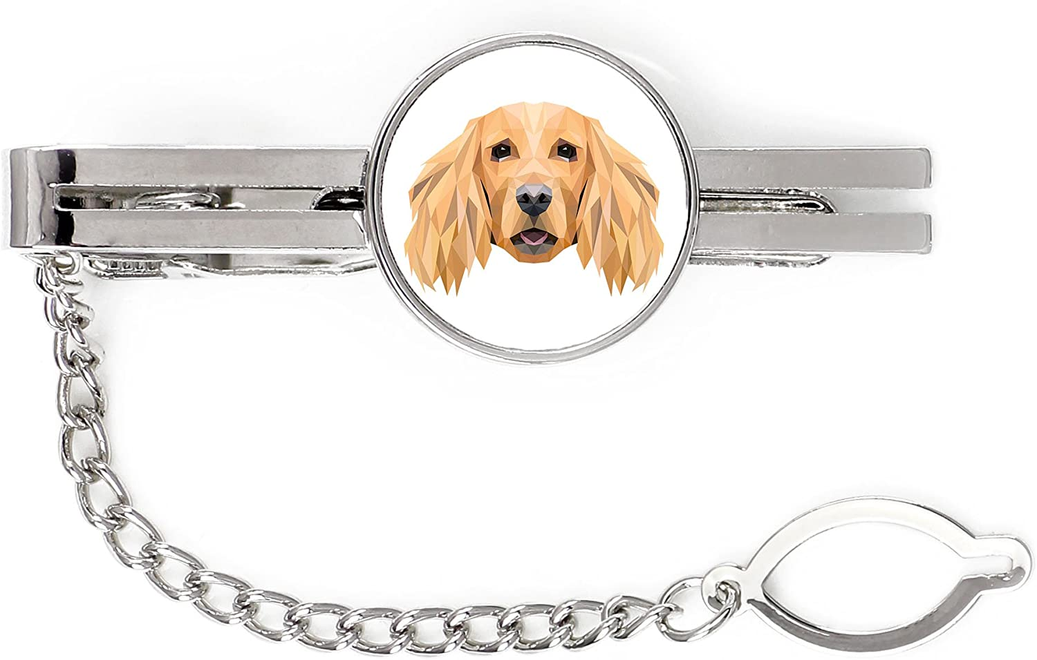 English Cocker Spaniel tie pin Great interest Clip Mail order cheap with a Dog an of El Image