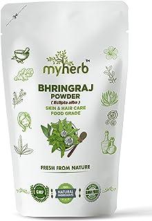 MYHERB 100% Natural Organic Bhringraj Powder (Eclipta Alba) || Ayurvedic Powder || For Use, Food Grade - Skin, Hair & Inte...