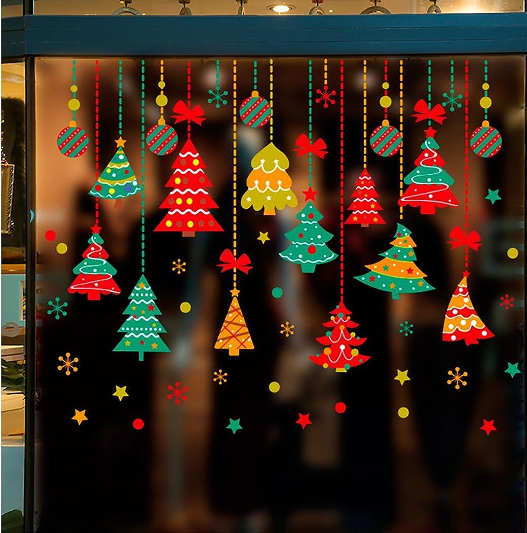 相対性理論専門知識大混乱Takarafune ウォールステッカー クリスマス ショーウインドー 窓飾り 壁紙 クリスマス 装飾 クリスマスツリー