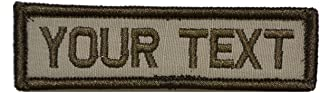 Customizable Text 1x3 Patch w/Hook Fastener Morale Patch - Desert Tan
