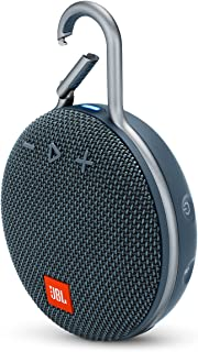 "JBL Clip 3 Waterproof Portable Bluetooth Speaker - Bue, 6.5 x 4.3 x 2.2"" (JBLCLIP3BLU)"
