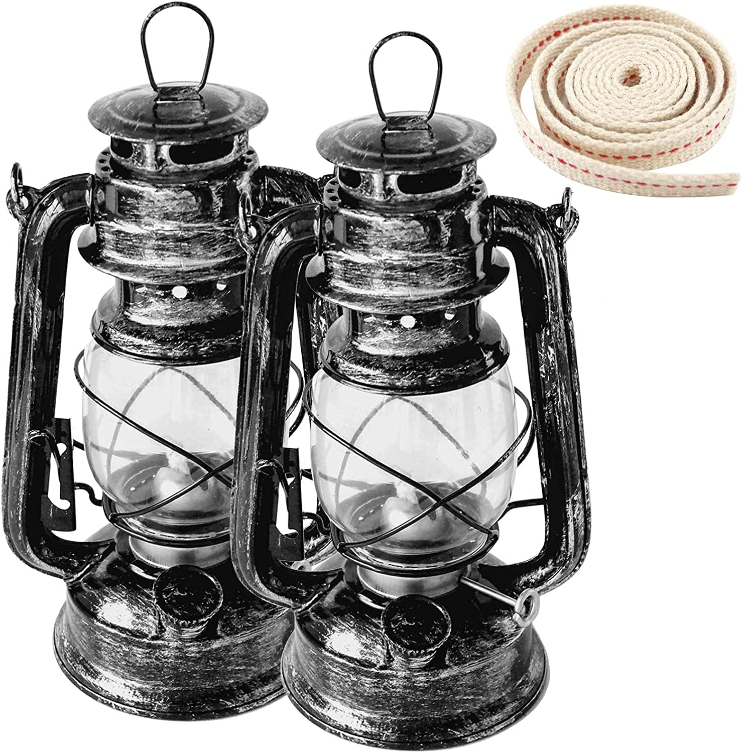 Rustic Kerosene Lamp 2 Oil Lamps sold out and specialty shop of Bu Wick 1Roll Hurricane