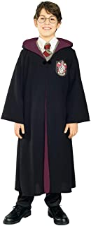 Rubie's Deluxe Harry Potter Child's Costume Robe with Gryffindor Emblem, Large, Black