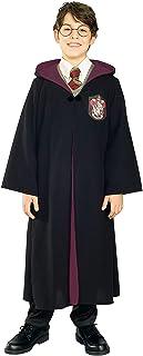رداء هاري بوتر التنكري مع شعار جريفندور للاطفال من روبي، مقاس Large