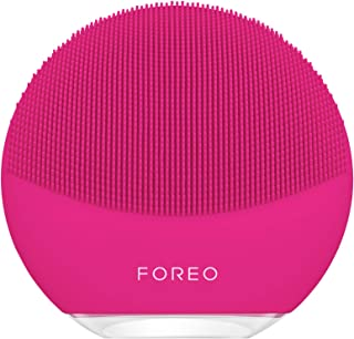 FOREO LUNA mini 3 Smart Electric Face Cleanser for All Skin Types, Fuchsia