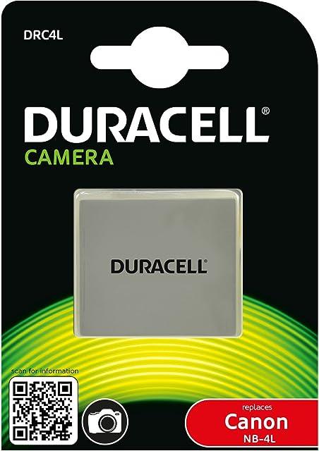 Duracell DRC4L - Batería para cámara Digital 3.7 V 720 mAh (reemplaza batería Original de Canon NB-4L)