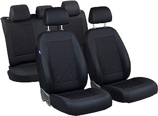 Kuga Sitzbezüge   1 Set   Farbe Premium Schwarz gepresstes Karomuster