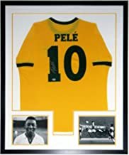 Pele Signed FC Brazil Jersey - Beckett Authentication Services BAS COA Authenticated - Professionally Framed & 2 8x10 Photo 34x42