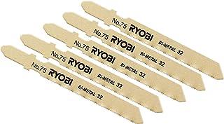 リョービ(RYOBI) ジグソー刃 Bタイプ 鉄工・ステンレス用 5本組 J-6500V J-6500VDL J650VDL用 No.75 6641637