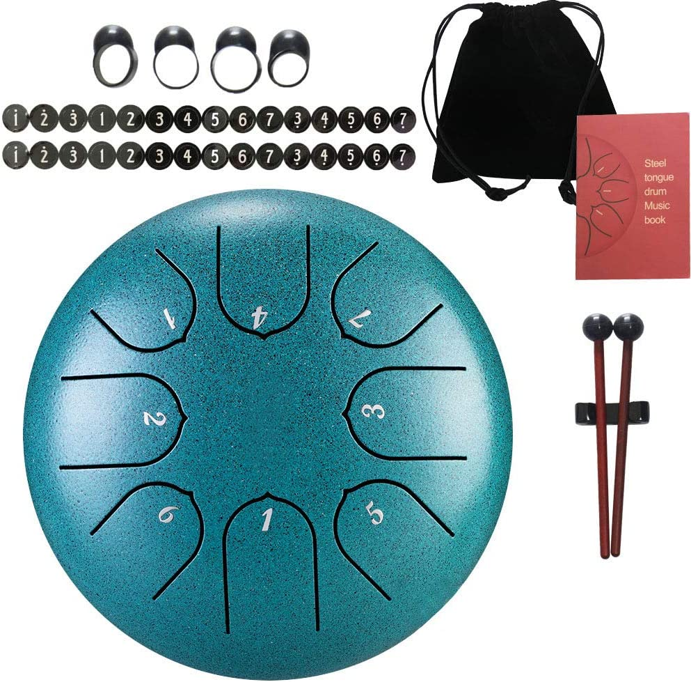Bombing free shipping Steel Los Angeles Mall Tongue Drum - 8 Instrument Inches-Percussion 6 C-K tones
