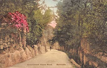 Bermuda Government House Road Street View Antique Postcard K62267