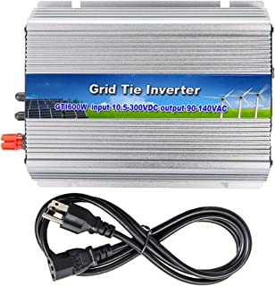 iMeshbean 250W 300W 500W 600W 1000W 2500W Grid Tie MPPT Power Inverter Converter for Solar Panel and Wind Turbine Generator System Stackable Pure Sine Wave USA (600W Solar Input 10.8v - 30v DC)