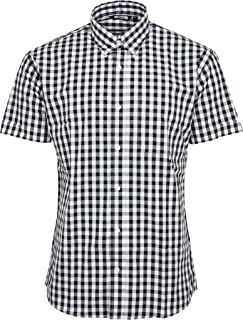 3171445db037 Relco Men's Checkered 9Mm Short Sleeved Shirt Mod Skin Retro Indie
