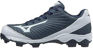 (MIZD9 Boys' 9-Spike Advanced Franchise 9 Molded Youth Baseball Cleat-Low Shoe, Navy/White, 3.5 US Big Kid