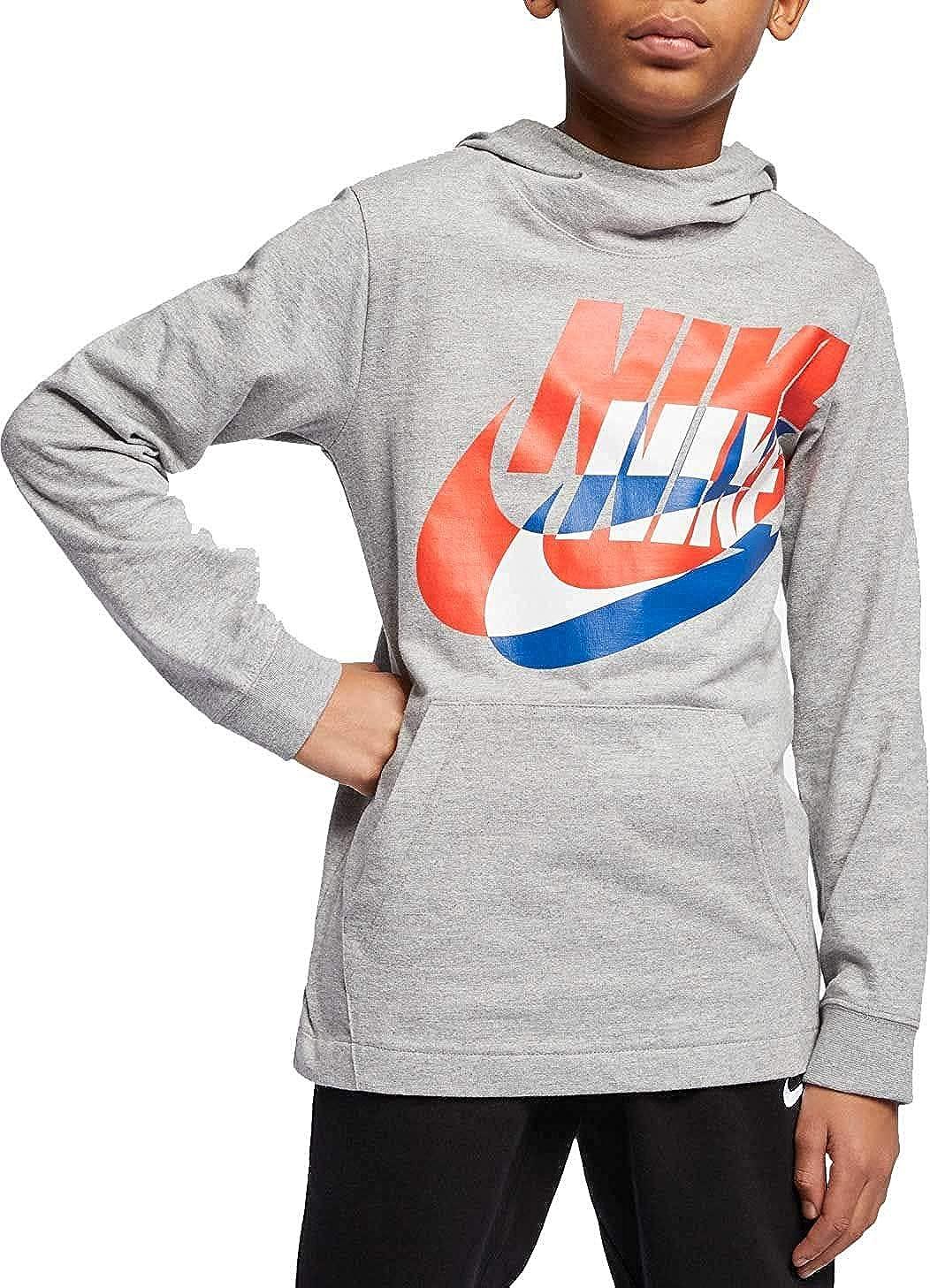 Nike Boys' NSW PO JSY Hoodie Pullover Size M Gray