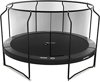 Acon Air 4.3 Black Edition Trampoline 14ft with Premium Enclosure | Includes 14ft Round Trampoline and Safety Net | 96 Heavy Duty 8.5in Springs